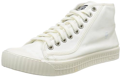 G-STAR RAW Rovulc Mid, Scarpe da Ginnastica Basse Uomo, Bianco (White 110), 40 EU