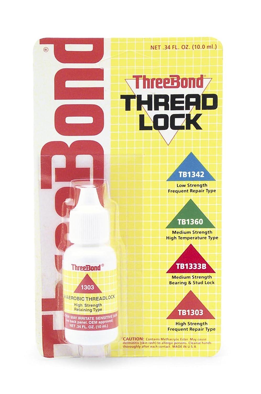Three Bond Hi-Strength Thread Lock - 10 ml 1303AT000 Threadlock for Severe Vibration TB1303