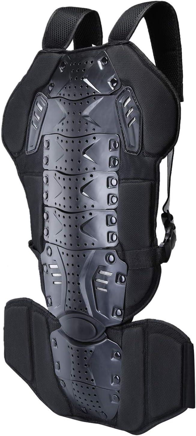 WILDKEN Protección de Espalda para Motocross Cuerpo de la Columna Armadura Dorsal Guardia Carrera Corporal para Patinaje de Esquí/Snowboard/Bicicleta/Moto (Negro)