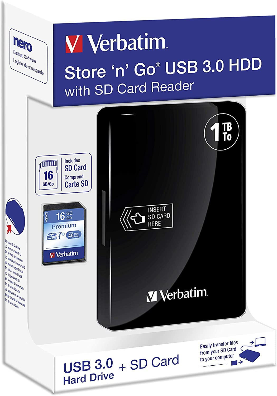 Verbatim Store N Go Portable Usb3 0 1tb 53421 Computers Accessories