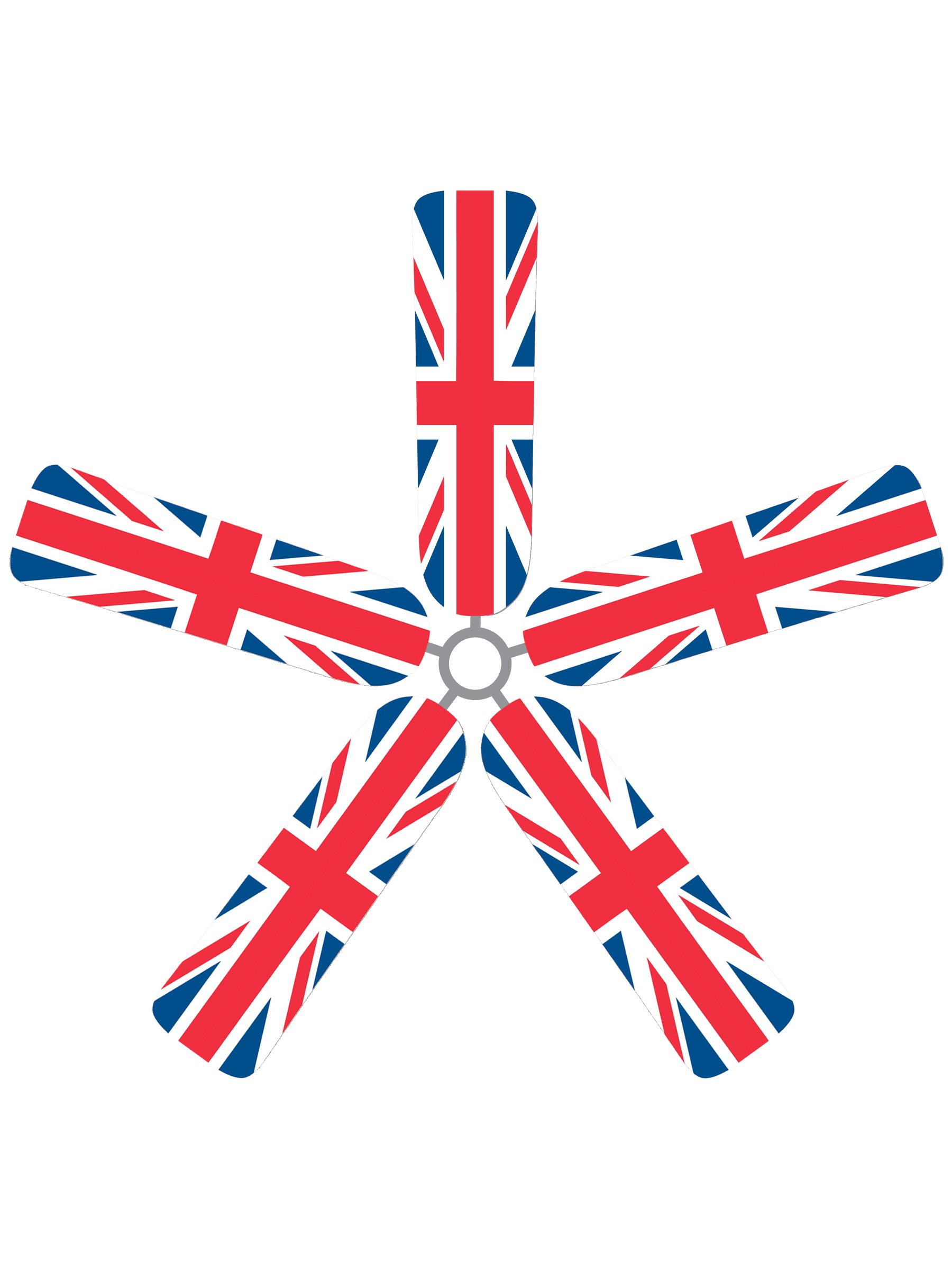 Fan Blade Designs 9K-GGH-C2NM Ceiling Fan Blade Covers, British Flag by Fan Blade Designs