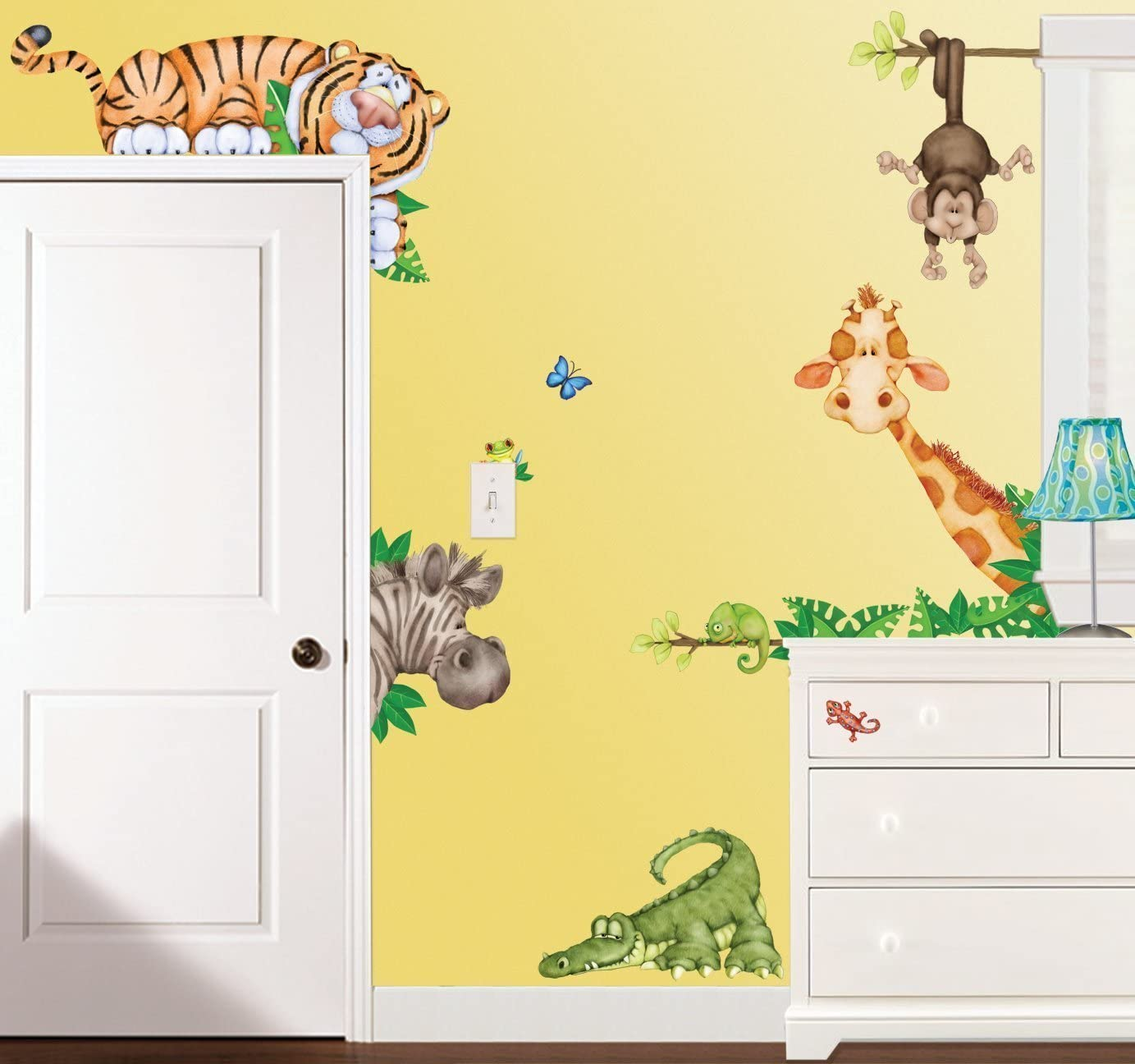 Baby Room Decor Wall Sticker Toddlers Bedroom Decals Learning Removable Sticker Nursery Wall D/écor Ocean Sea Animal Decals for Children Study Room Decoration Safari Animals Wall Stickers for Kids