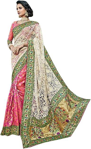 Designer Vestidos de Fiesta de diseño Indio Net Saree Sari con la Blusa Original de Mujer India de Bollywood para la Ceremonia de Mujer étnica Vestido de Eid Women Muslim Wedding 7234: