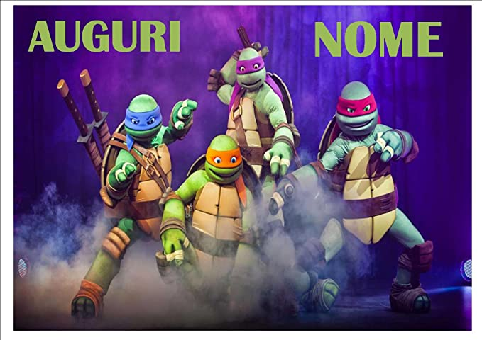 Tortugas Ninja Fiesta cialda de Ostia para tarta ...