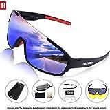 ROCKNIGHT REVO Sports Sunglasses Men Women 2 Interchangeable Lenses Cycling Running Driving Baseball Glasses UV Protection