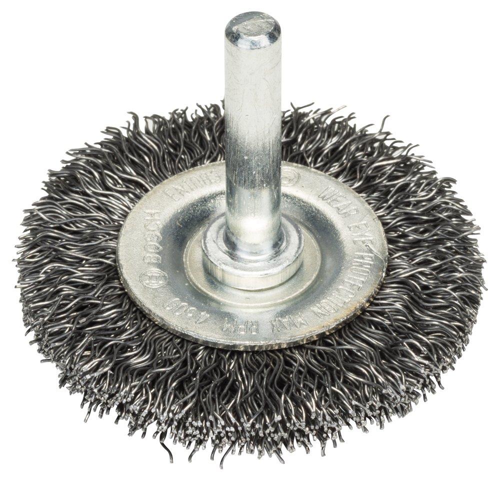 BOSCH Scheibenbü rste, Stahl, gewellter Draht, 0,2 mm, 50 mm, 15 mm, 4500 U/min, 2608622111