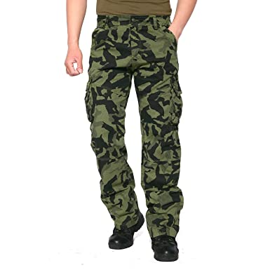 ... EKLENTSON Mens Camo Cargo Pants Tactical Straight-Leg Hiking Army Green  Camo hot new products ... 162d76a63