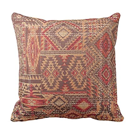 Amazon Emvency Throw Pillow Cover Western Tribal Inspired Brown Fascinating Southwest Decorative Pillows
