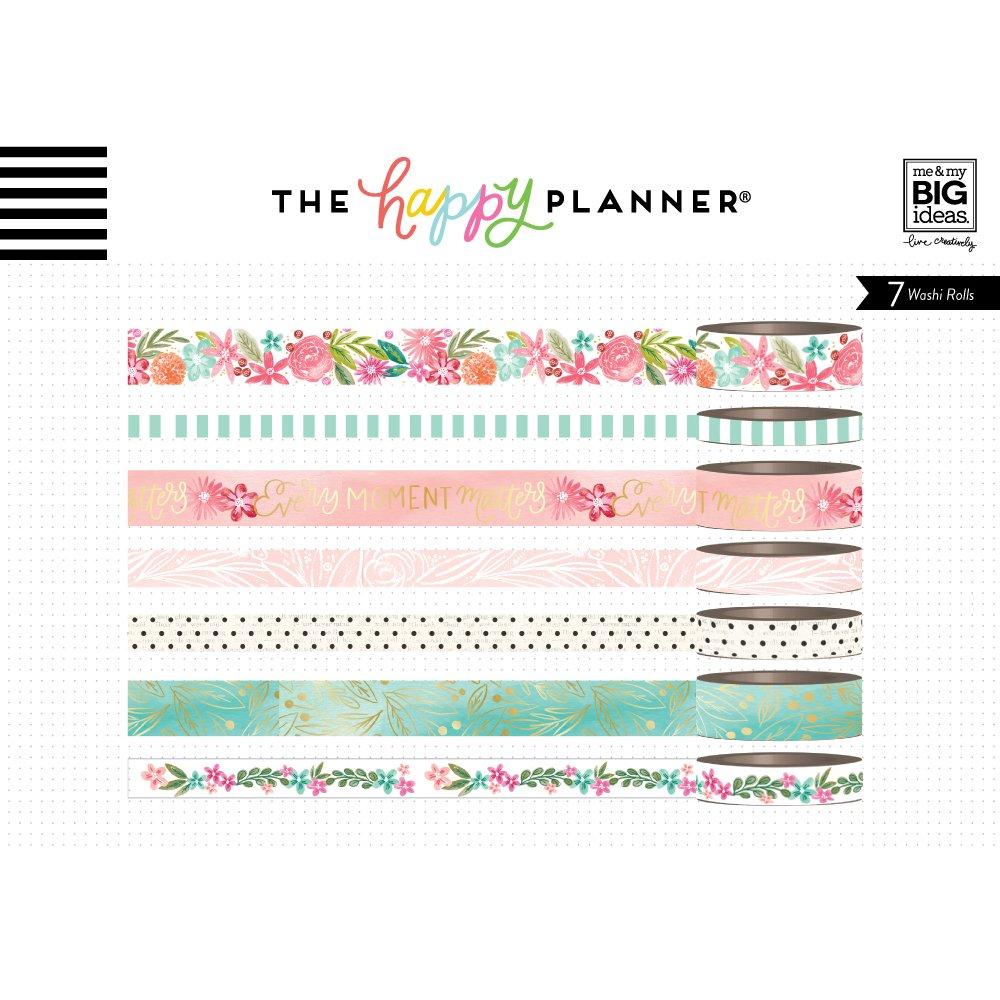 Multicolore 12.7/x 4.57/x 4.57/cm Me /& My Big Ideas Planner Washi 7//Pkg Happy Esprit Bande