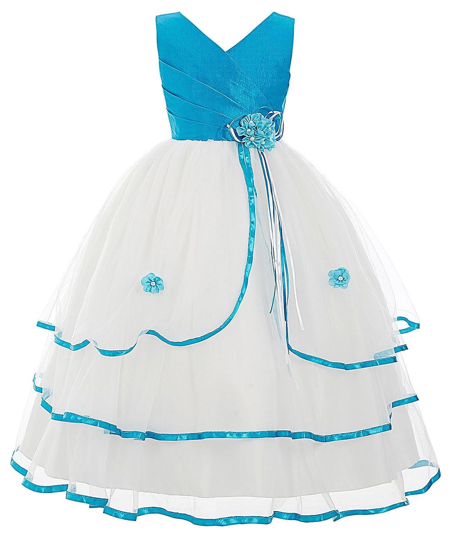 GRACE KARIN Maedchen Prinzessin Aermellos Blumenmaedchen Kleid Party Kleid
