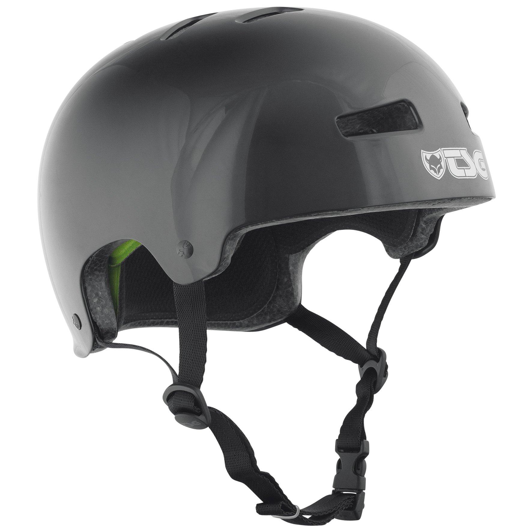 TSG - Evolution Injected Color (injected black, L/XL 57-59 cm) Helmet for Bicycle Skateboard