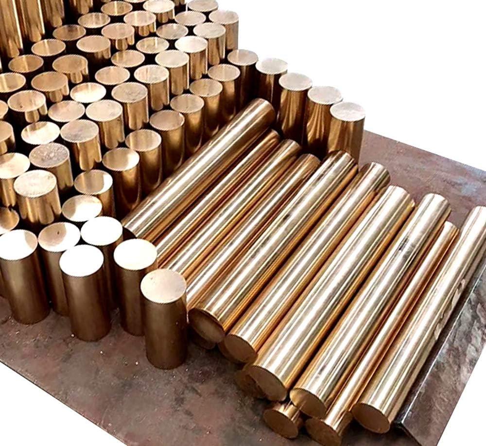 LEISHENT Pure Copper Cu Metal Rods Diameter 20Mm Length 300Mm