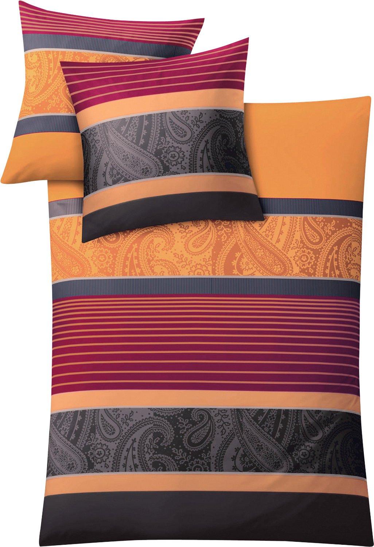 135 x 200/cm Kleine Wolke 6162334952 Color Rojo y Naranja Juego de Funda n/órdica
