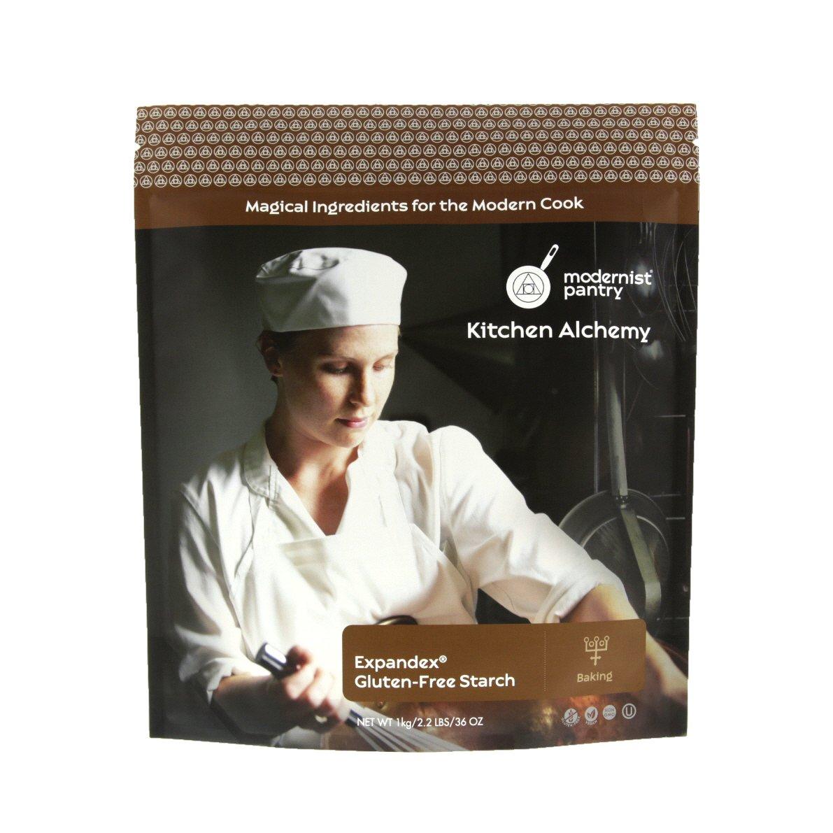 Expandex GF Tapioca Starch - 1kg/2.2lbs/36oz (Gluten-Free Baking) ⊘ Non-GMO ❤ Gluten-Free ☮ Vegan ✡ OU Kosher Certified by Modernist Pantry