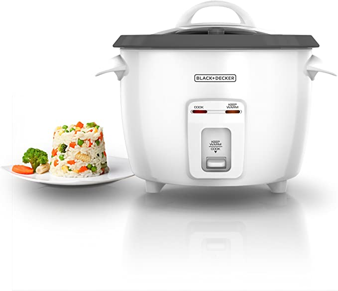 Details about  /BLACK+DECKER 16-Cup Cooked//8-Cup Uncooked Rice Cooker and Food Steamer