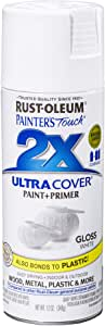 Rust-Oleum 249090 Painter's Touch 2X Ultra Cover, 12 Oz, Gloss White
