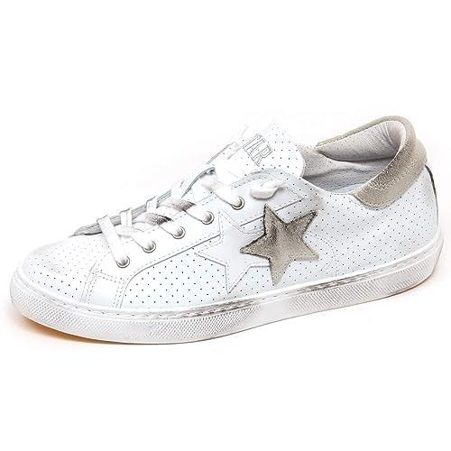 2Star F3712 Sneaker Donna White Grey Scarpe Vintage Effect Shoe Woman  35    Amazon.it  Scarpe e borse d97e0e97f48