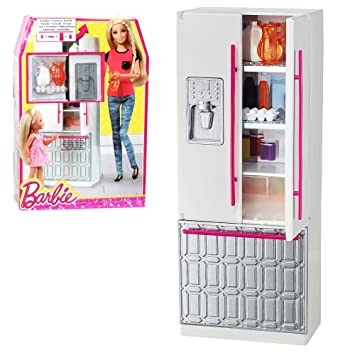 Juegos De Cocina Barbie | Amazon Es Barbie Mobiliario De Cocina Nevera Con Accesorios