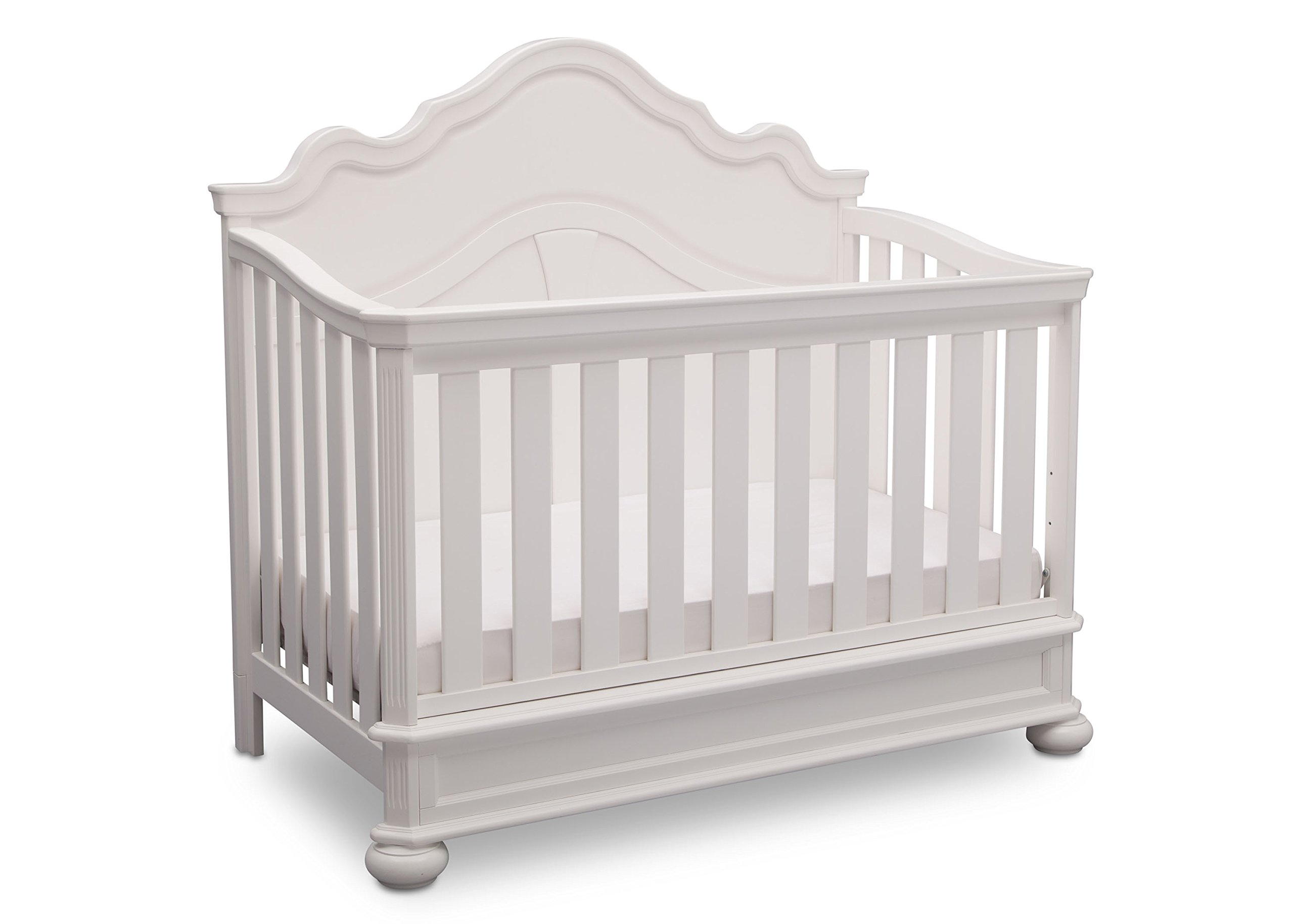 Simmons Kids Peyton 6-Piece Nursery Furniture Set (Convertible Crib, Dresser, Chest, Changing Top, Toddler Guardrail, Full Size Conversion), Bianca White by Delta Children (Image #3)