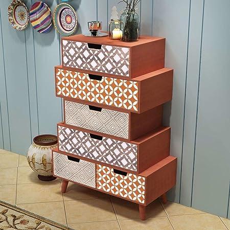 Lingjiushopping Mueble con 6 cajones marrón Material: MDF + Madera de Pino Buffet y credenze: Amazon.es: Hogar
