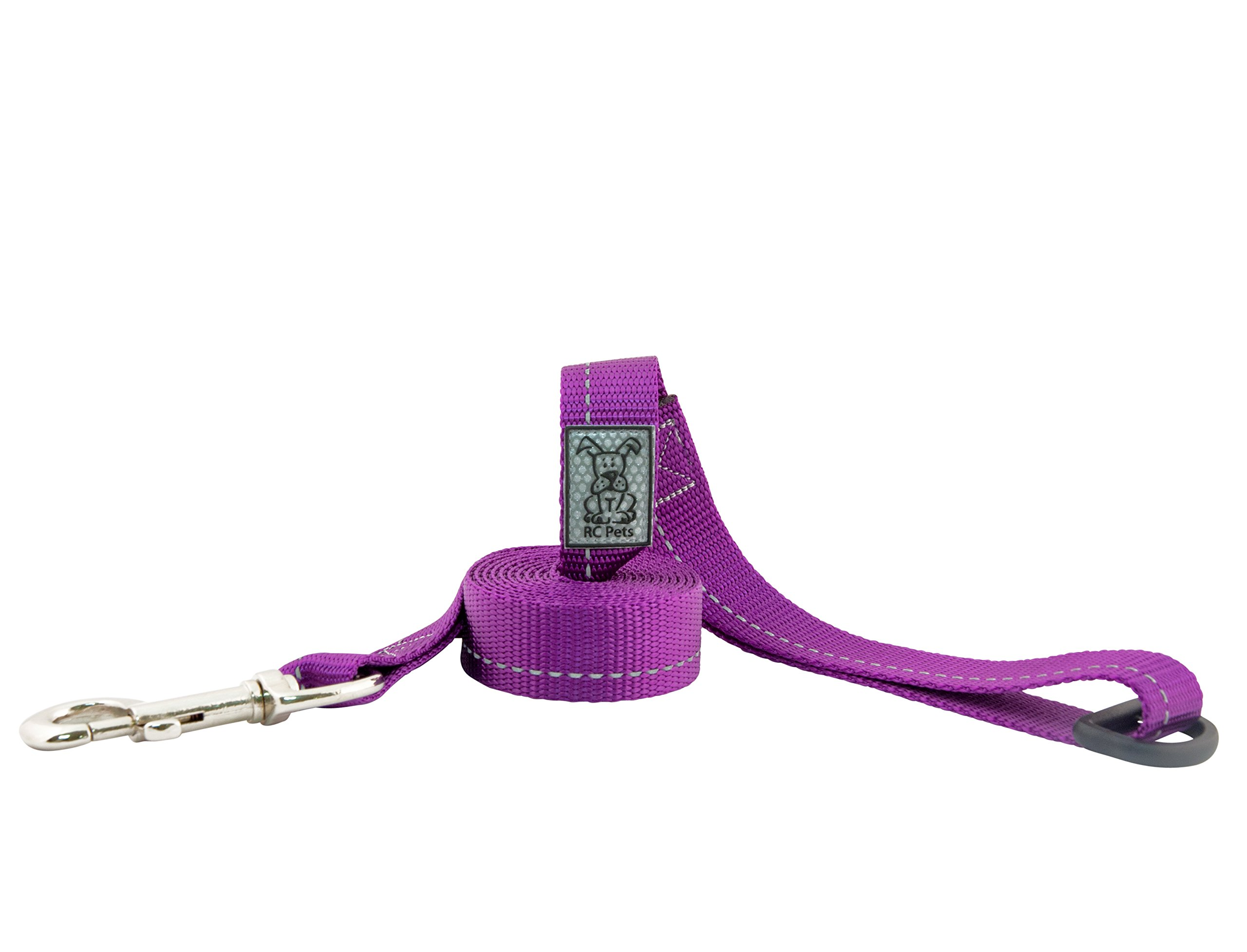 RC Pet Products 1'' x 4' Primary Collection Dog Leash, Purple