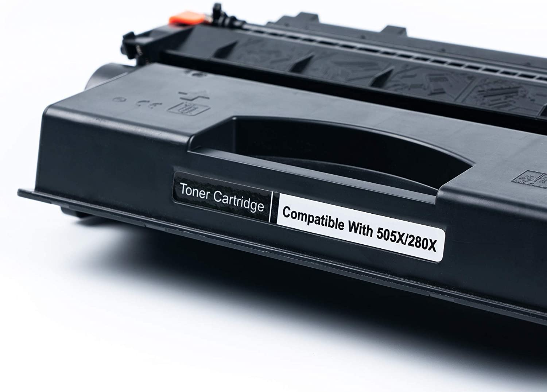 Black DIGITONER Compatible CE505X CF280X CRG120 Toner Cartridge 10 Pack CE505X CF280X CRG120 High Yield Toner Cartridge Replacement for HP Laser Printer