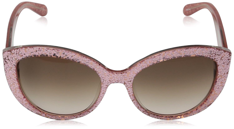 ff6ed8bf1f0f Amazon.com: Kate Spade Women's Sherrie Cateye, Pink Glitter, 55 mm: Clothing