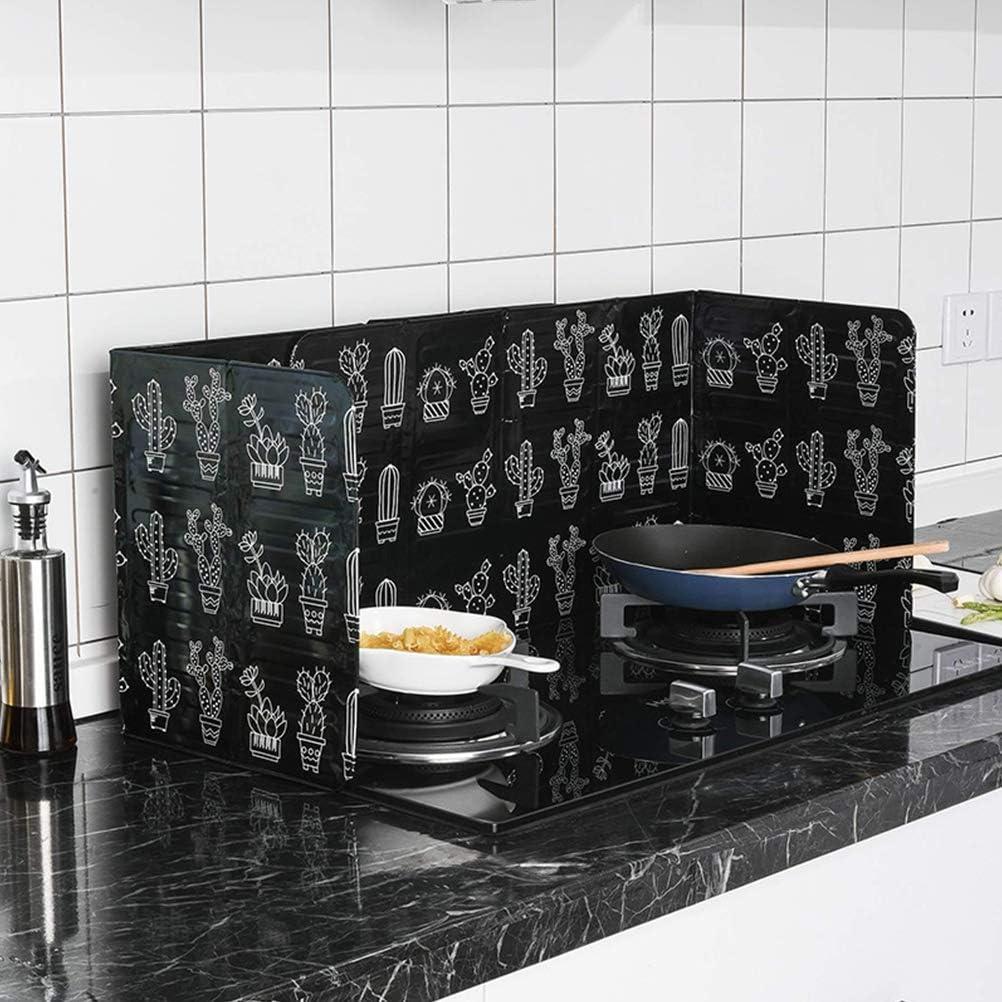 Camidy Protezione Antispruzzo Blocco di Alluminio Blocco Olio Isolamento Termico Barriera Olio per Cottura in Cucina Facile da Pulire