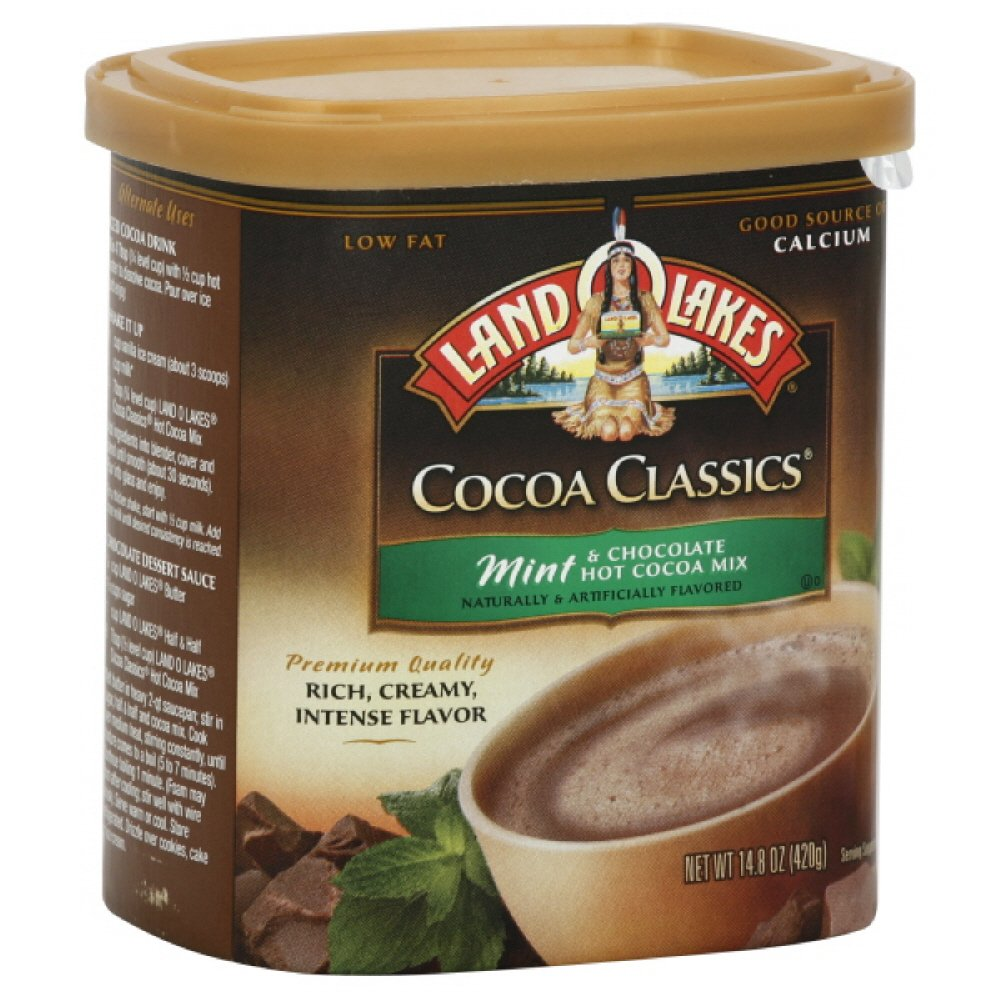 Land O Lakes Hot Cocoa Mix, Mint & Chocolate, 14.8000-ounces (Pack of3) by Land O Lakes