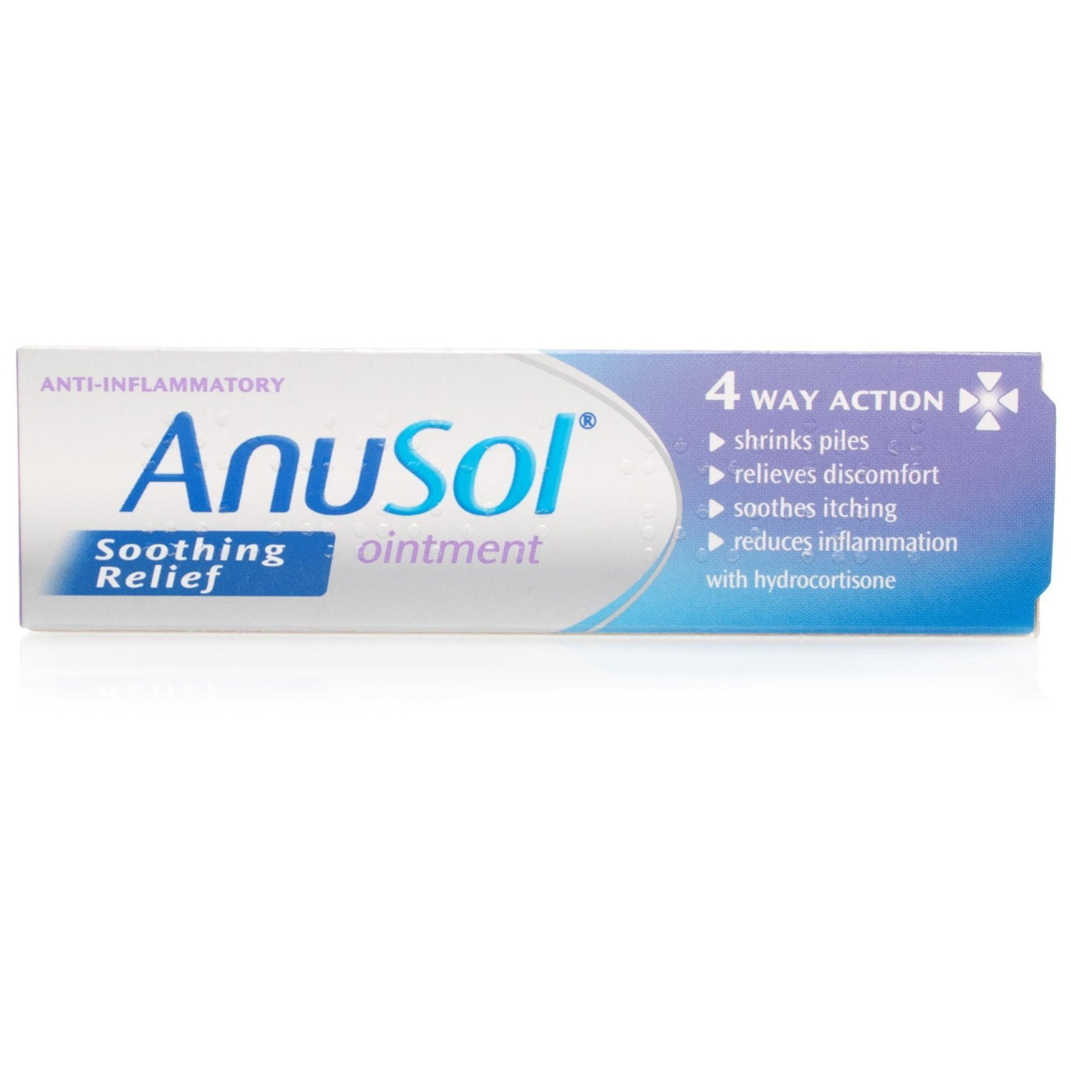 Anusol - Soothing Relief Ointment - Shrinks Piles, Relieves Discomfort, Soothes Itching and Reduces Inflammation - 15 g