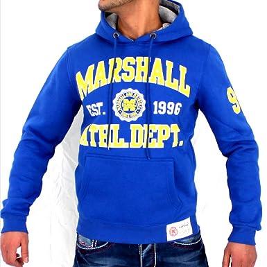 Sudadera con capucha hombre Sudadera Original Marshall Sudadera con capucha azul azul medium: Amazon.es: Ropa y accesorios