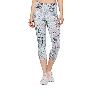 02d4505ae12e3 Image Unavailable. Image not available for. Color: Champion C9 Women's  Snake Print Training High-Waisted Reversible Capri Leggings ...