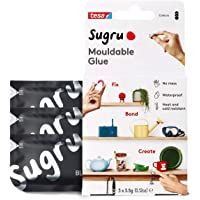Sugru I000945 Moldable Multi-Purpose Glue for Creative Fixing and Making, Black, 3 Piece