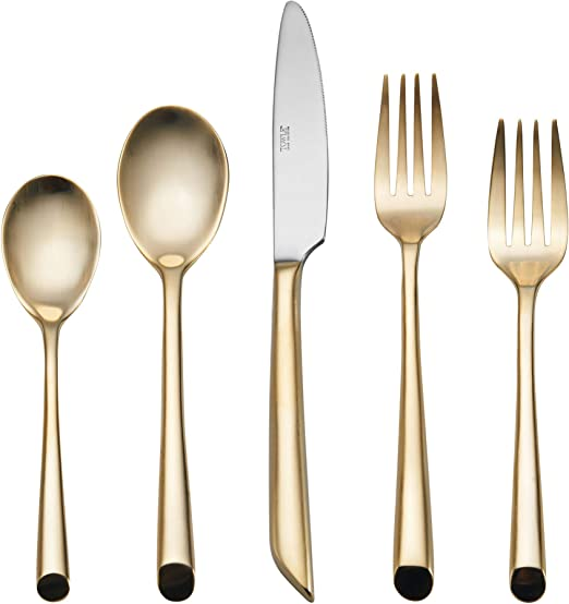 Towle Wave Dinner Forks Satin Stainless Flatware Set of 5 Excellent Condition