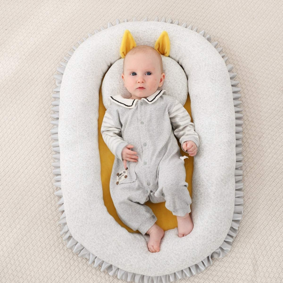Portable Baby Cot Bed Soft Baby Nest Baby Bassinet Cribs for 0-1 Year Old Babies HelloCreate Newborn Crib
