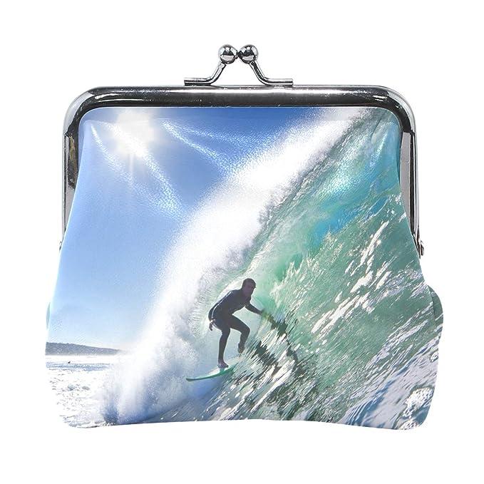 Amazon.com: Monedero para mujer con diseño de surfista en ...