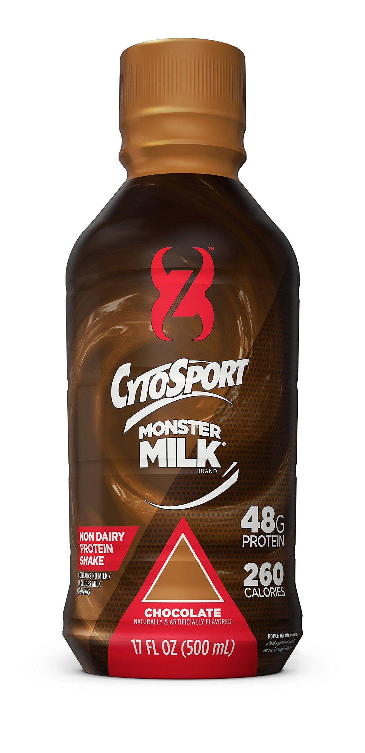 CytoSport Monster Milk Protein Shake, Chocolate, 48g Protein, 17 FL OZ, 12 Count by CytoSport