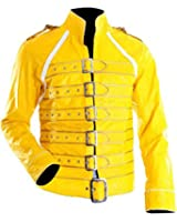 Freddie Mercury Yellow Moto Faux Leather Jacket