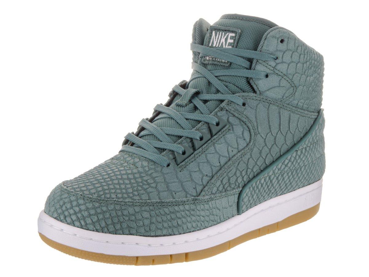 NIKE Air Python PRM Men Round Toe Leather Basketball Shoe B01N1FUFOW 6.5 D(M) US|Hasta/Hasta White