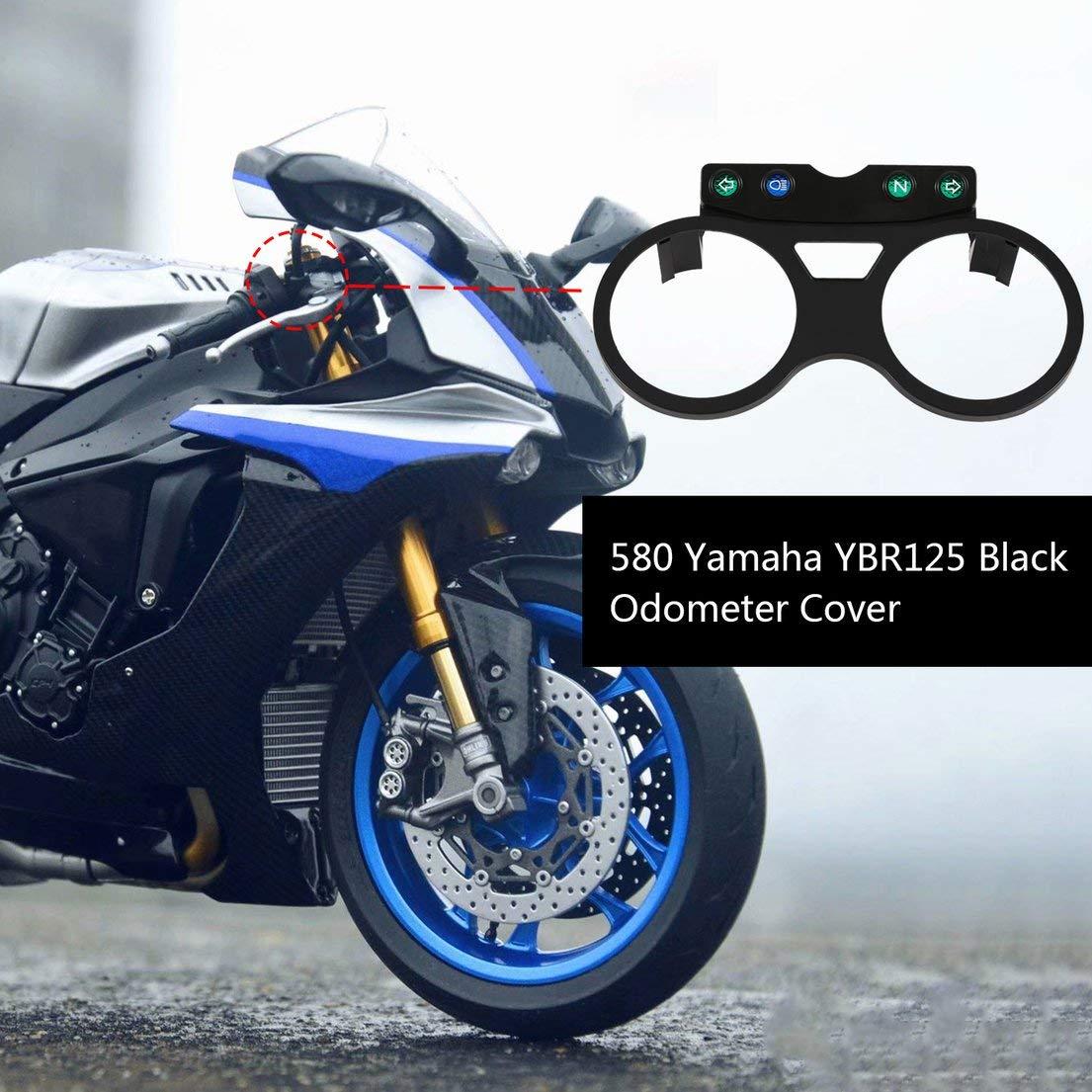 couleur: Noir DF-FR Compteur de vitesse moto Compteur kilom/étrique inf/érieur Couvercle de compteur inf/érieur pour Yamaha Ybr 125 Ed 2005-2009 Abs Plastic