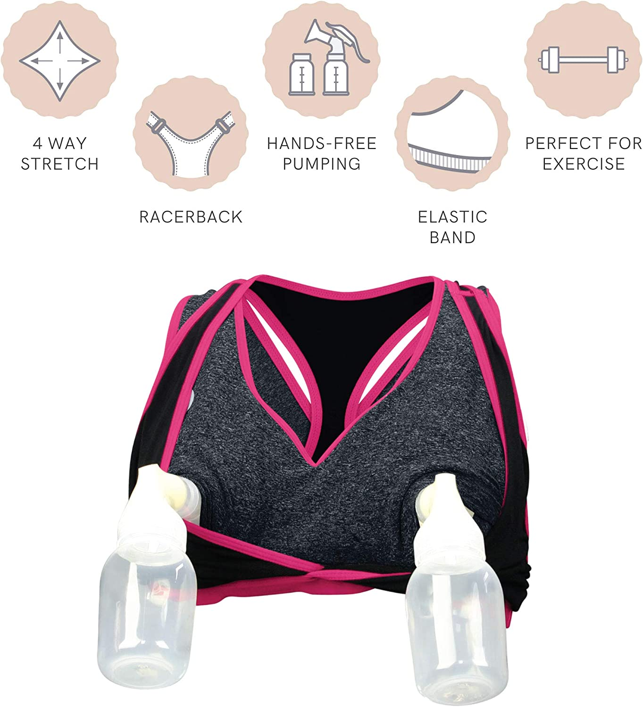Cake Maternity Lotus Pumping Bra Hands Free, Maternity Sports Bra: Clothing