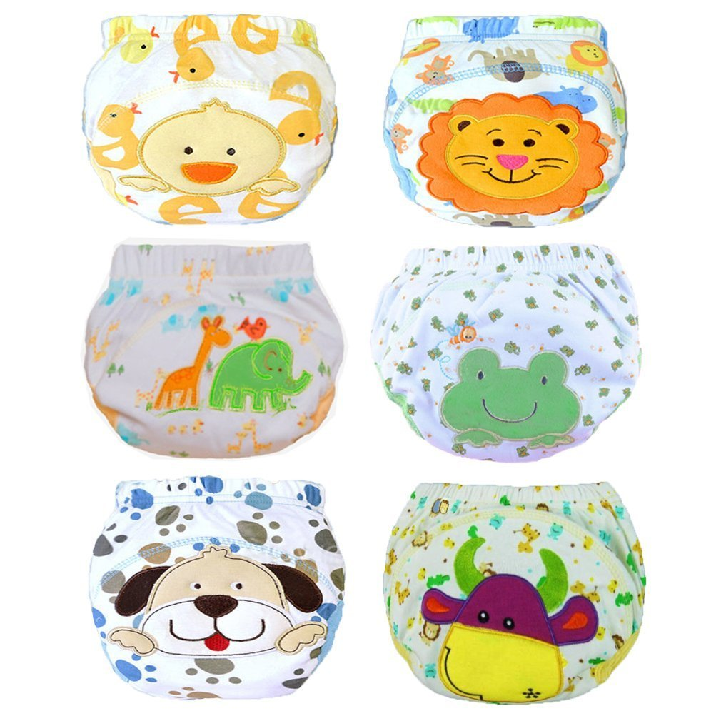 Vivi Pray 6 Pack Baby Girl Cotton Potty Reusable Training Pants