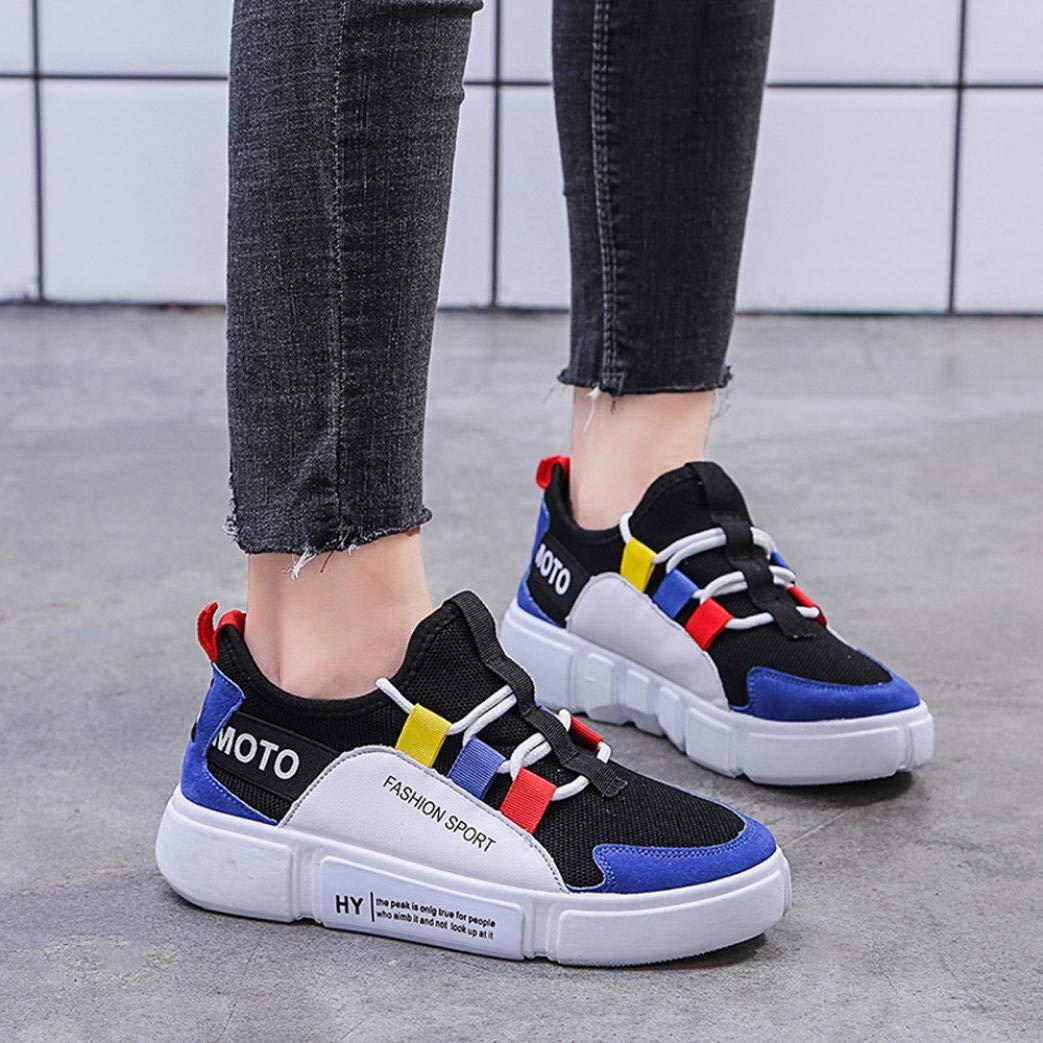 Zapatos para Mujer BBestseller Calzado casual transpirable de fondo plano para mujer zapatos casuales vestir Gym Shoes zapatillas: Amazon.es: Ropa y ...