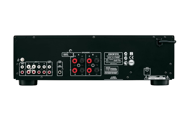 Onkyo A-9030-B - Amplificador esterero integrado (65 W por canal, 5 entradas analógicas) color negro