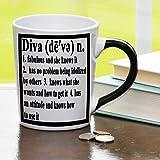 Diva Mug, Diva Coffee Cup, Ceramic Diva Mug, Custom Diva Gifts By Tumbleweed