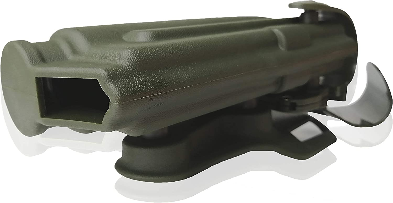 Totrait Pistola Glock 17//19//22//31//32 Funda de pistola militar Cintur/ón de polic/ía Paleta de cintura atada con linterna Luz t/áctica montada Safariland Universal para la caza Deportes al aire libre Juego de guerra CS Game Army