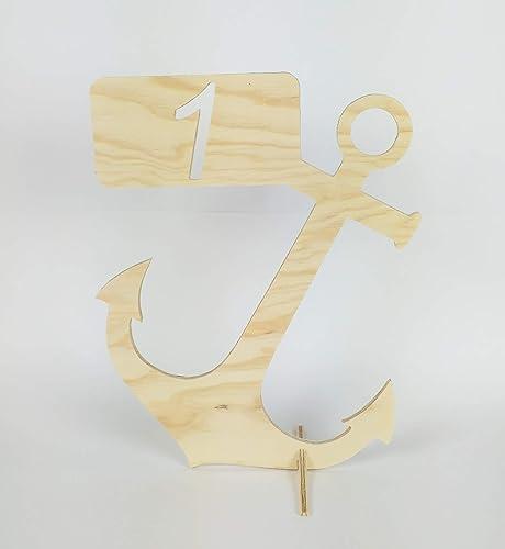 Centro de mesa numerado para celebraciones ancla: Amazon.es: Handmade