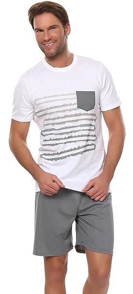 Italian Fashion IF Pijamas para hombre Raymond 0227 (Blanco, S)
