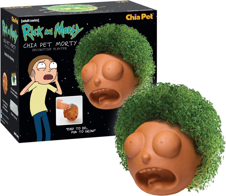 Amazon Com Chia Cp415a08 Rick Morty Pottery Planter Rick Morty Garden Outdoor