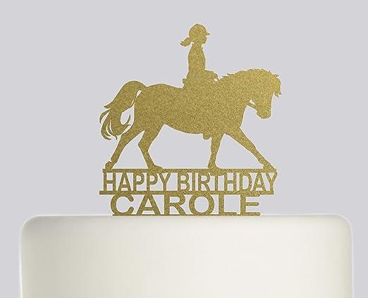 Decoración para tarta de cumpleaños, diseño de caballo y ...